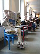 Tidningsläsare på Stadsbibliotekets tidskriftsavdelning