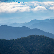 The view from Kaeng Krachan National Park's Panoenthung Ranger Station to the forest of Burma and the Tanintharyi National Park.