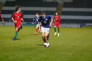 Aaron Hickey (Heart of Midlothian) during the U17 European Championships match between Portugal and Scotland at Simple Digital Arena, Paisley, Scotland on 20 March 2019.
