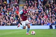 Aston Villa forward Scott Hogan (9) in action during the EFL Sky Bet Championship match between Fulham and Aston Villa at Craven Cottage, London, England on 17 April 2017. Photo by Jon Bromley.