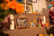 New York, NY, October 31, 2013. A memorial to a man includes some children's toys.