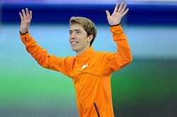 18-02-2014 SCHAATSEN: OLYMPIC GAMES: SOTSJI<br /> Jorrit Bergsma pakt de gouden medaille op de 10000 meter<br /> ©2014-FotoHoogendoorn.nl