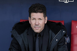 March 9, 2019 - Madrid, Madrid, Spain - Atletico de Madrid's coach Diego Pablo Simeone during La Liga match between Atletico de Madrid and CD Leganes at Wanda Metropolitano stadium in Madrid. (Credit Image: © Legan P. Mace/SOPA Images via ZUMA Wire)