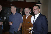 Philip Oppenheim, David Kirke and Simon Keeling, Simon Keeling 50th Birthday. Cabinet War Rooms, Cabinet War Rooms, Clive Steps, King Charles St, W1 23 January 2007.  -DO NOT ARCHIVE-© Copyright Photograph by Dafydd Jones. 248 Clapham Rd. London SW9 0PZ. Tel 0207 820 0771. www.dafjones.com.