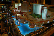 Model of planned development on reclaimed land between the Macau islands of Taipa and Coloane, is the Cotai development. Central to this is the vast building site for the 3000 room Venetian hotel-casino-conference centre owned by the Las Vegas based Sands company.