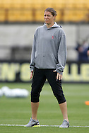 04 December 2011: Stanford assistant coach Nicole Barnhart. The Stanford University Cardinal defeated the Duke University Blue Devils 1-0 at KSU Soccer Stadium in Kennesaw, Georgia in the NCAA Division I Women's Soccer College Cup Final.