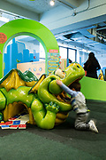 Play spaces in the Children's Museum of Manhattan.