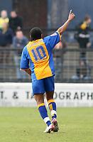 Photo: Mark Stephenson.<br />Shrewsbury Town v Torquay United. Coca Cola League 2. 24/03/2007. Shrewsbury's Derek Asamoah celebrates his goal