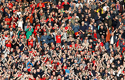 Manchester United fans react from the stands during the Premier League match at Old Trafford, Manchester.