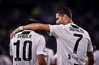 Paulo Dybala celebrates scoring. Esultanza gol con Cristiano Ronaldo <br /> Torino 26-09-2018 Allianz Stadium Football Calcio Serie A 2018/2019 Juventus - Bologna  <br /> Foto OnePlusNine / Insidefoto