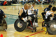 July 7th, 2006: Anchorage, AK - as White defeated Blue in the gold medal game of Quad Rugby at the 26th National Veterans Wheelchair Games.