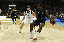 March 2, 2018 - Madrid, Madrid, Spain - Brad Wanamaker (right), #11 of Fenerbahce in action  during the 2017/2018 Turkish Airlines EuroLeague Regular Season Round 24 game between Real Madrid and Fenerbahce Dogus Istanbul at WiZink center in Madrid. (Credit Image: © Jorge Sanz/Pacific Press via ZUMA Wire)