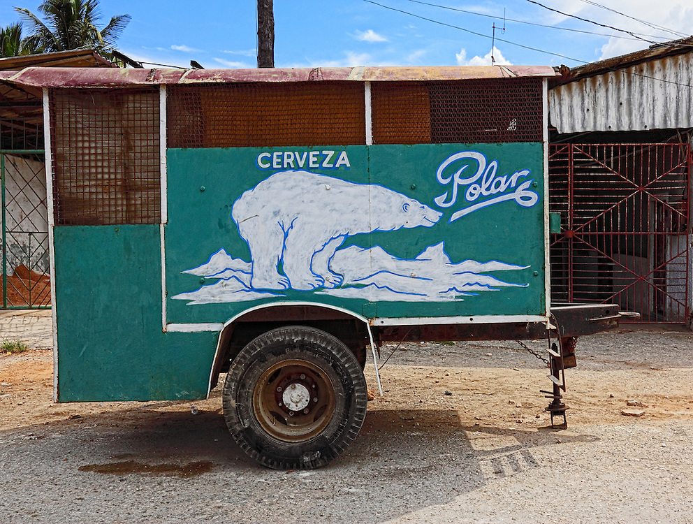 Beer wagon in Santa Cruz del Norte, Mayabeque, Cuba.