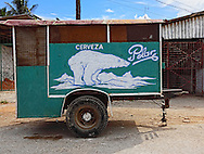 Beer wagon in Santa Cruz del Norte, Mayabeque, Cuba.