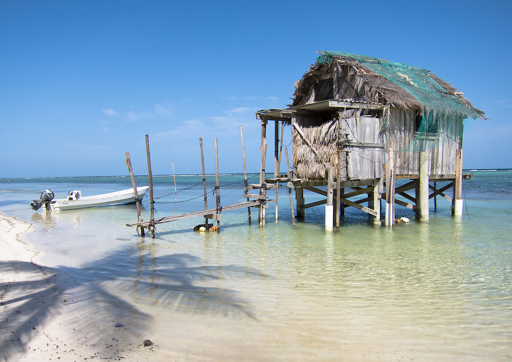 Ambergris Caye, Belize 8/31/2012.Turtleman's House..Alex Jones / www.alexjonesphoto.com