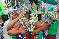 London, August 25th 2014 Despite the intermittent rain, thousands of people attend the Notting Hill Carnival in West London.