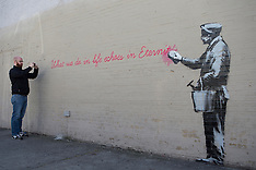 OCT 14 2013 Banksy graffiti art in New York City
