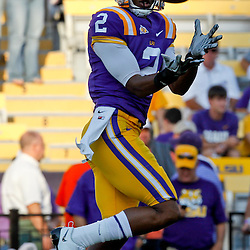 September 10, 2011; Baton Rouge, LA, USA;  LSU Tigers wide receiver Rueben Randle (2) prior to kickoff of a game against the Northwestern State Demons at Tiger Stadium.  Mandatory Credit: Derick E. Hingle