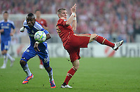 FUSSBALL   SAISON 2011/2012   CHAMPIONS LEAGUE FINALE FC Bayern Muenchen - FC Chelsea  19.05.2012 Salomon Kalou (li, FC Chelsea) gegen Bastian Schweinsteiger (re, FC Bayern Muenchen)