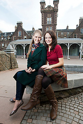 The current Miss World Alexandria Mills with Miss Scotland Jennifer Reochs..The Miss World 2011 contestants in the grounds of Crieff Hydro, Perthshire..MISS WORLD 2011 VISITS SCOTLAND..Pic © Michael Schofield.