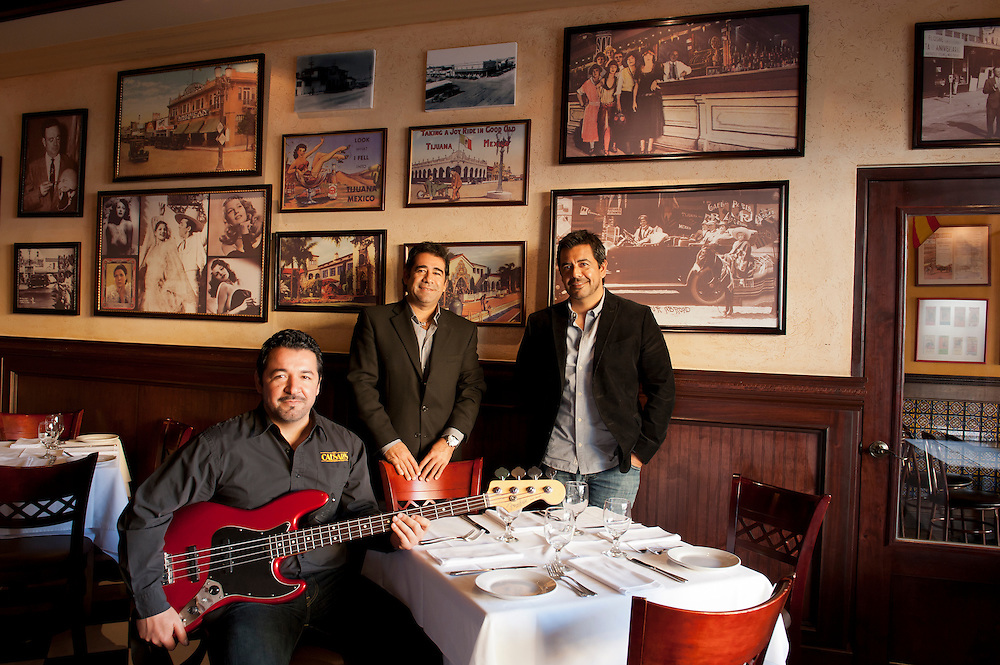 Plascencia Brothers, owners of Caesars restaurant, Tijuana.  ..© Stefan Falke.http://www.stefanfalke.com/..