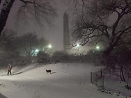 The Obelisk at night in Central Park