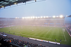 STOKE-ON-TRENT, ENGLAND - Saturday, November 29, 2008: Stoke City take on Hull City during the Premiership match as the fog descends on the Britannia Stadium. (Photo by David Rawcliffe/Propaganda)