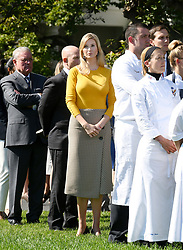 Ivanka Trump attends a moment of silence with White House staff for the victims of the Las Vegas shooting, on the South Lawn of the White House in Washington, D.C., U.S., Oct. 2, 2017. Photo by Olivier Douliery/ Abaca Press