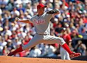 ATLANTA - OCTOBER 3:  Pitcher Roy Oswalt #44 of the Philadelphia Phillies throws a pitch during the game against the Atlanta Braves at Turner Field on October 3, 2010 in Atlanta, Georgia.  The Braves beat the Phillies 8-7.  (Photo by Mike Zarrilli/Getty Images)