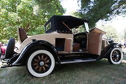 7 August 2010: 1935 Ford Phaeton. Antique Car show, David Davis Mansion, Bloomington Illinois