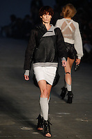 Iris Strubegger walks the runway wearing Alexander Wang Spring 2010 collection during Mercedes-Benz Fashion Week in New York, NY on September 11, 2009