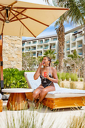 Taraji P. Henson looked a complete knockout as she lived it up during a romantic Valentine's weekend with her fiancé Kelvin Hayden. The 49-year-old actress slipped into a daring black bejeweled swimsuit and enjoyed some quality time with Kelvin — who she is set to wed on April 4 — at Nobu Hotel Los Cabos. The lovebirds took a break from freezing cold Chicago where she is shooting the spin-off to her hit show Empire.   The Oscar-winning actress and retired NFL player arrived at their private ocean view suite where they were welcomed with a Nobu signature cocktail and specially prepared dessert to celebrate the Valentine's Day weekend. The couple kicked off their lovers' escape with a romantic boat tour of the famous Cabo San Lucas Arch where they  dined on lobster, oysters and chocolate covered strawberries as they toasted to their upcoming nuptials. After their sunset cruise, the two enjoyed a candlelit dinner at Nobu Restaurant where they dined on signature dishes such as Salmon tartare with caviar, Octopus Tiradito, Crispy Rice with Spicy Tuna, miso black cod and yellowtail sashimi to name a few. Taraji took to her Instagram to show off  her heart shaped strawberry that she fed to her fiancé. The next day the loving couple started their morning with freshly prepared breakfast from Malibu Farm before retreating to the adults only infinity pool. The duo spent the day lounging by the pool with friends and graciously taking photos with fans. Generous Taraji even bought the whole pool a round of cocktails. In the early afternoon they headed to Esencia Spa where they took advantage of the outdoor hydrotherapy garden, experiential shower, cabana jacuzzi and hydrotherapy pool before they went in for their couple's massage and facials. Kelvin was also spotted working out of the state-of-the-art gym while Taraji was snapping pictures to commemorate her first time at Nobu Hotel Los Cabos. Nobu Restaurant pulled out all the stops for their next dinner date w