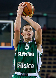 Jaka Lakovic (5) of Slovenia during the EuroBasket 2009 Group F match between Slovenia and Turkey, on September 16, 2009 in Arena Lodz, Hala Sportowa, Lodz, Poland. Slovenia won 69:67. (Photo by Vid Ponikvar / Sportida)