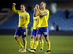 Birmingham City's Michael Morrison (right) applauds the fans at full time