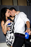 Former American Idol contestant Joanna Pacitti and Dancing with the Stars dancer Mark Ballas dance at the Moves Magazine party in Indianapolis Friday night.