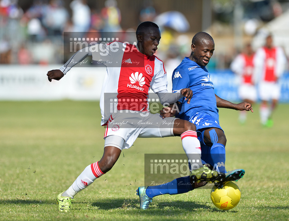 CAPE TOWN, SOUTH AFRICA - Monday 28 March 2016, Masilake Phohlongo of Ajax Cape Town challenges Simon Nqoi of Supersport United during the final between Ajax Cape Town and Supersport United during the final day of the Metropolitan U19 Premier Cup at Erica Park in Belhar. <br /> Photo by Roger Sedres/ImageSA