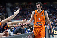 Valencia Basket Guillem Vives during Turkish Airlines Euroleague match between Real Madrid and Valencia Basket at Wizink Center in Madrid, Spain. December 19, 2017. (ALTERPHOTOS/Borja B.Hojas)