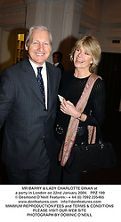 MR BARRY & LADY CHARLOTTE DINAN at a party in London on 22nd January 2004.PPZ 199