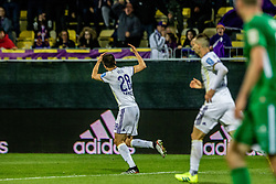Mitja Viler of NK Maribor celebrating during a football game between NK Olimpija Ljubljana and NK Maribor in Final Round (18/19)  of Pokal Slovenije 2018/19, on 30th of May, 2014 in Arena Z'dezele, Ljubljana, Slovenia. Photo by Matic Ritonja / Sportida
