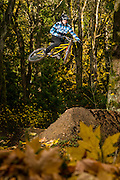 Lars Sternberg sends a 20-foot dirt jump on his rigid single-speed klunker bike near Bellingham, WA, USA.  He did this three times and needed three beer afterwards. Shot for Freehub Mag and Big Bike.