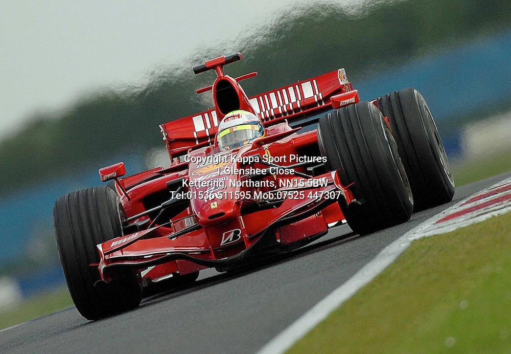 FELIPE MASSA Ferrari,  F1 Formula One Test Silverstone 19th June 2007 :Photo Mike Capps