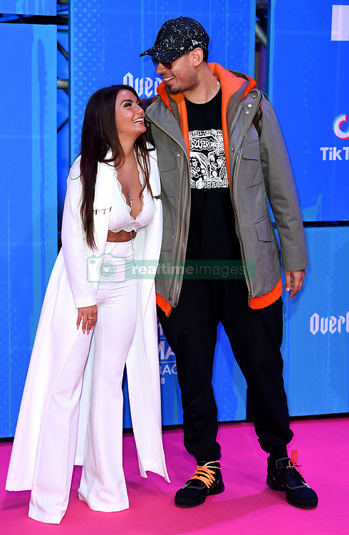 Elettra Lamborghini, Afrojack attending the MTV Europe Music Awards 2018 held at the Bilbao Exhibition Centre, Spain