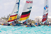 The Great Sound, Bermuda, 20th June 2017, Red Bull Youth America's Cup Finals. Race two, Next Generation - Team Germany.