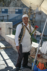 A tea seller near the Damascus Gate to the old city of Jersusalem. From a series of photos commissioned by  British NGO, Medical Aid for Palestinians (MAP).