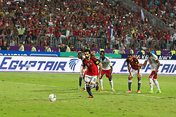 October 8, 2017 - Alexandria, Egypt - Egypt's Mohamed Salah scores a penalty during their World Cup 2018 Africa qualifying match between Egypt and Congo at the Borg el-Arab stadium in Alexandria on October 8, 2017. (Credit Image: © Ahmed Awaad/NurPhoto via ZUMA Press)