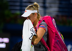 February 18, 2019 - Dubai, ARAB EMIRATES - Elise Mertens of Belgium in action during her first round match at the 2019 Dubai Duty Free Tennis Championships WTA Premier 5 tennis tournament (Credit Image: © AFP7 via ZUMA Wire)