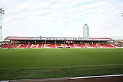 Shot of ground during the Sky Bet Championship match between Brentford and Wolverhampton Wanderers at Griffin Park, London, England on 29 November 2014.