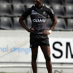Aphelele Fassi of the Cell C Sharks Aphelele Fassi of the Cell C Sharks during the Cell C sharks Captains Run at Jonsson Kings Park ,Durban.South Africa. 21,03,2018 (Photo by Steve Haag)