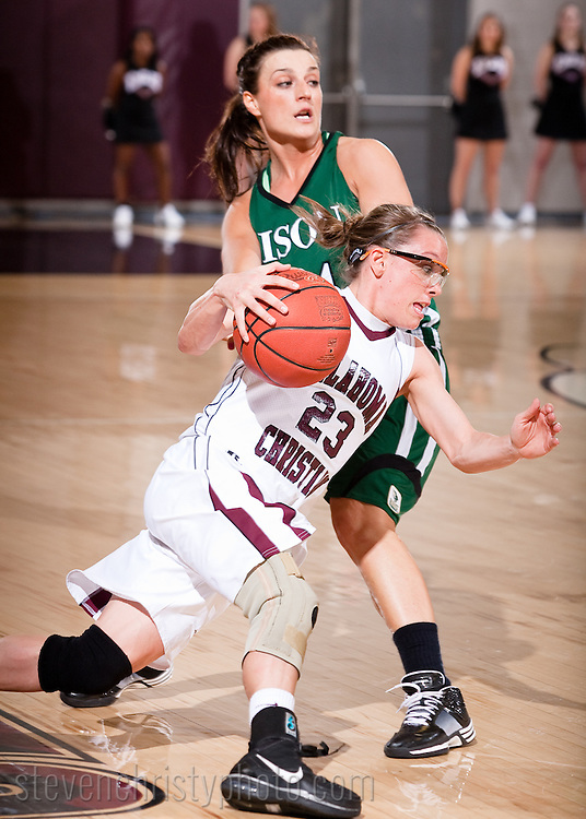 February 20, 2010: The Oklahoma Baptist University Lady Bison play against the Oklahoma Christian University Lady Eagles at the Eagles Nest on the campus of Oklahoma Christian University.
