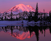 Mount Rainier snow sunrise